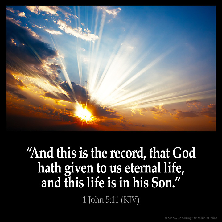 1 John 5:11 Inspirational Image