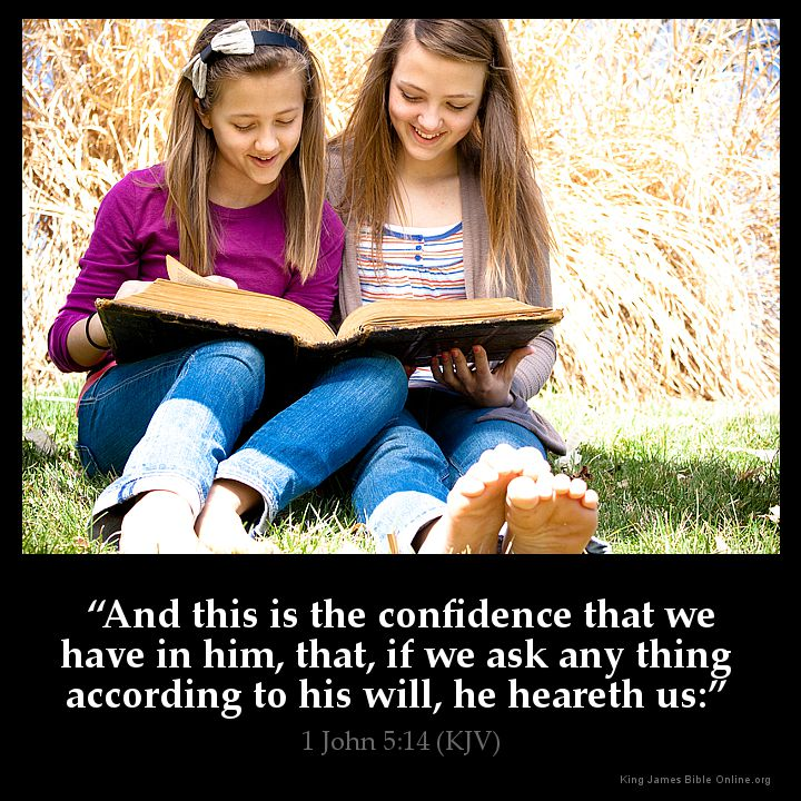 1 John 5:14 Inspirational Image
