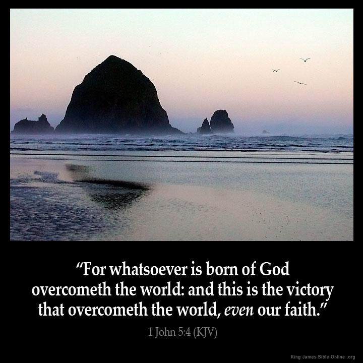 1 John 5:4 Inspirational Image
