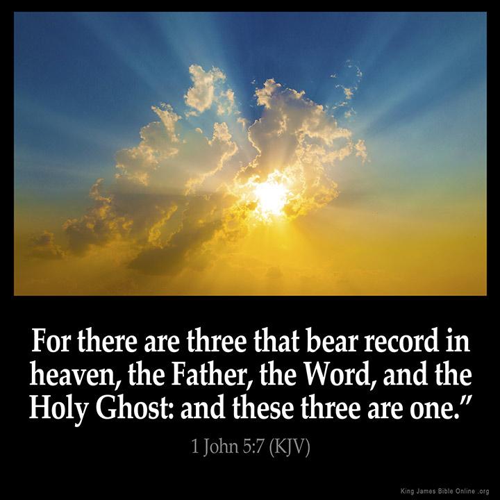 1 John 5:7 Inspirational Image