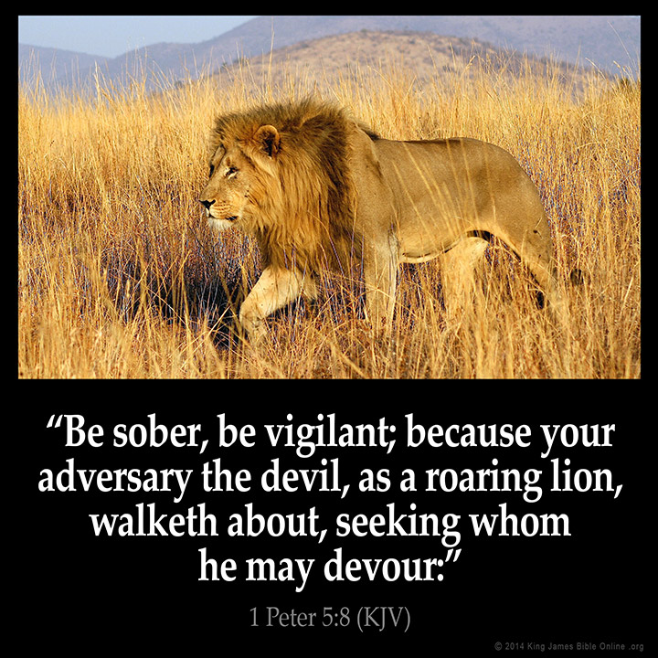 1 Peter 5:8 Inspirational Image