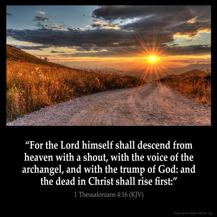1 Thessalonians 4:16 Inspirational Image