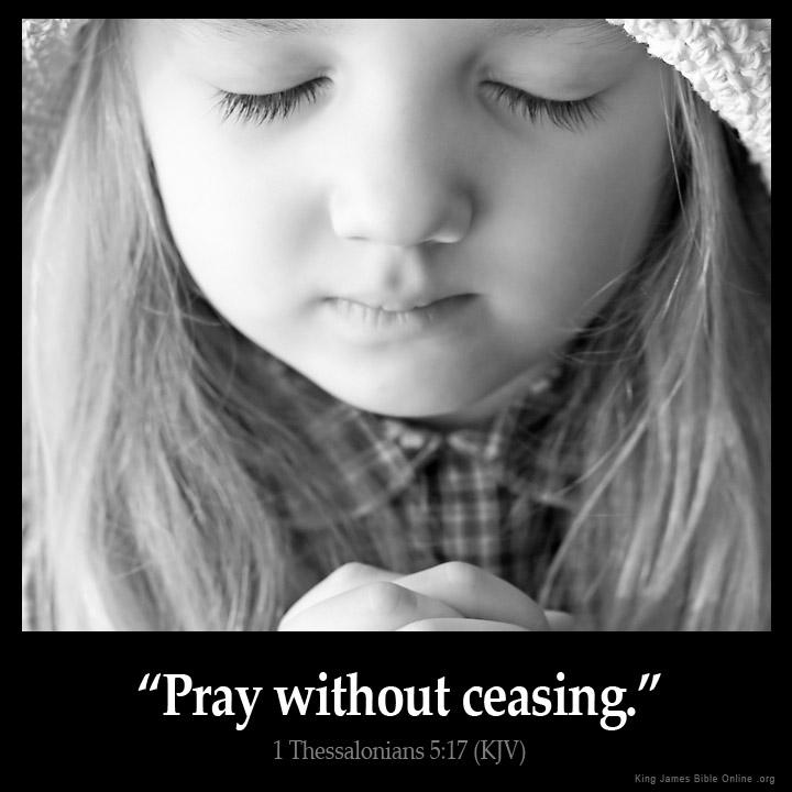 1 Thessalonians 5:17 Inspirational Image