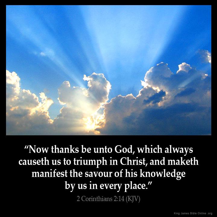 2 Corinthians 2:14 Inspirational Image