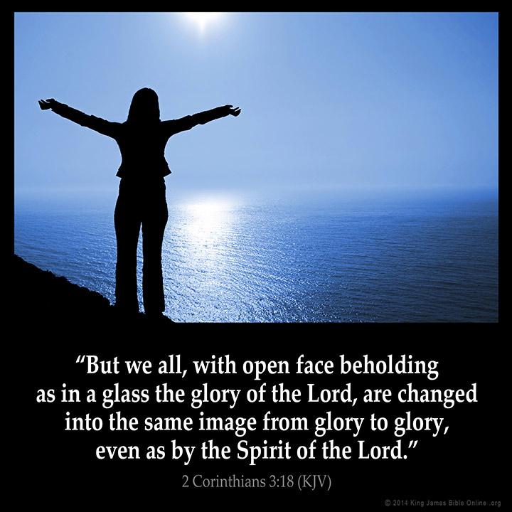 2 Corinthians 3 18 Inspirational Image