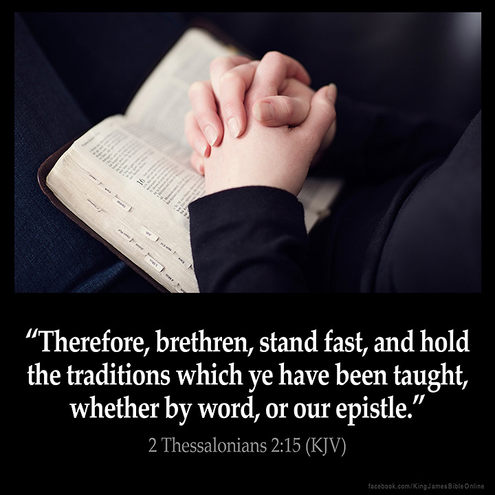 2 Thessalonians 2 15 Inspirational Image