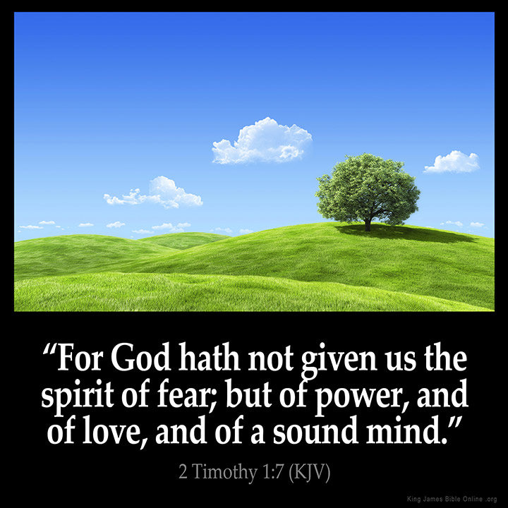 Image result for God did not give me a spirit of fear kjv