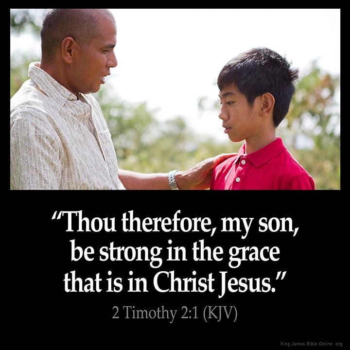 2 Timothy 2:1 Inspirational Image