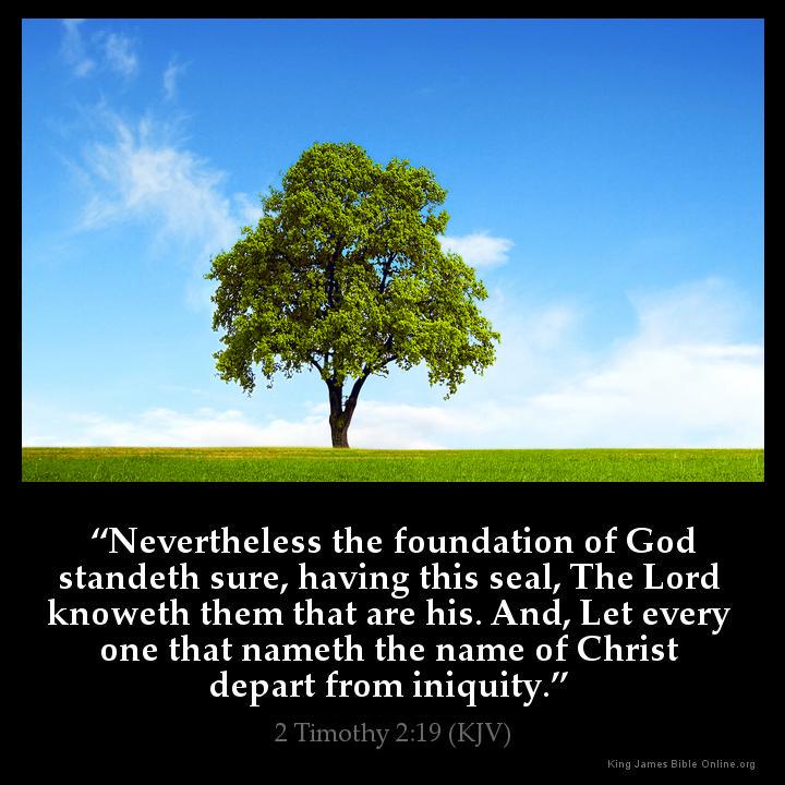 2 Timothy 2 19 Inspirational Image