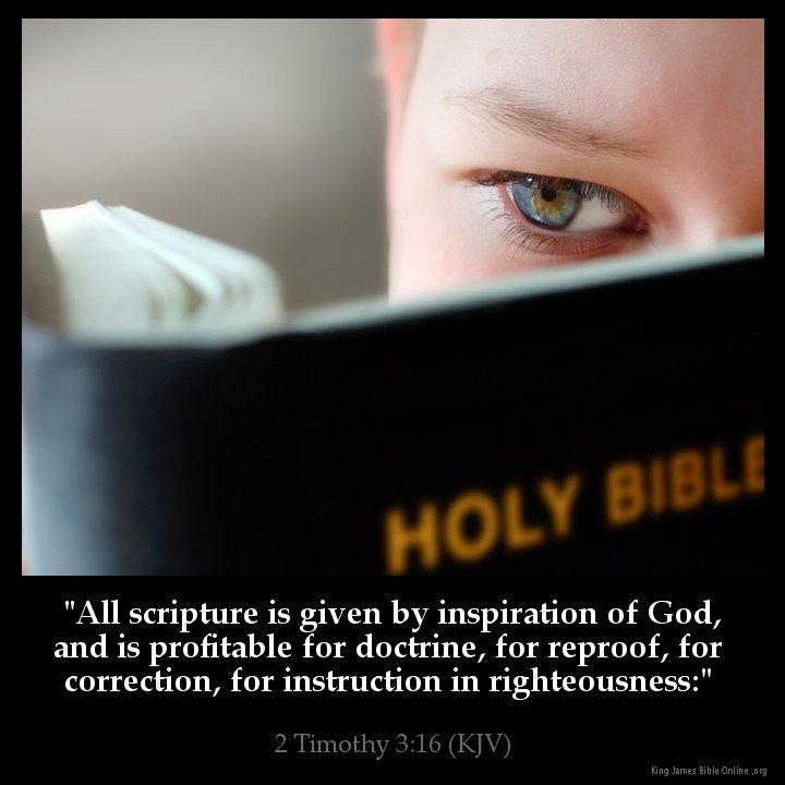 2 Timothy 3:16 Inspirational Image