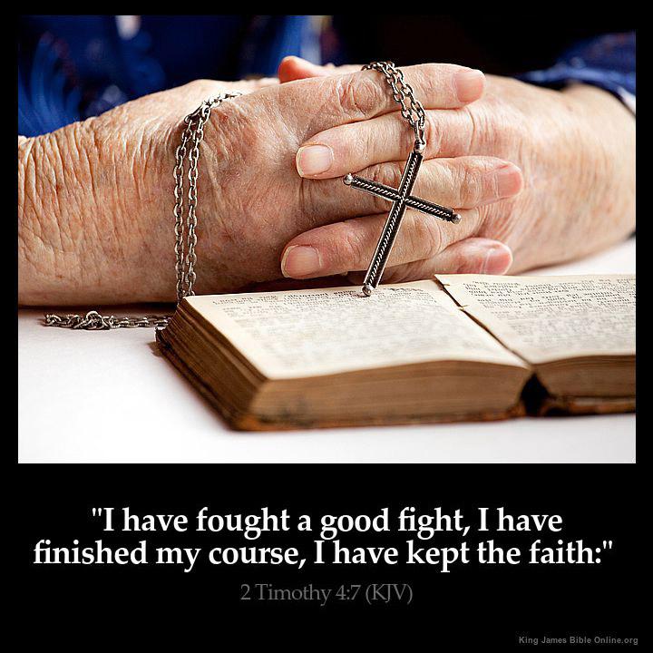 2 Timothy 4:7 Inspirational Image