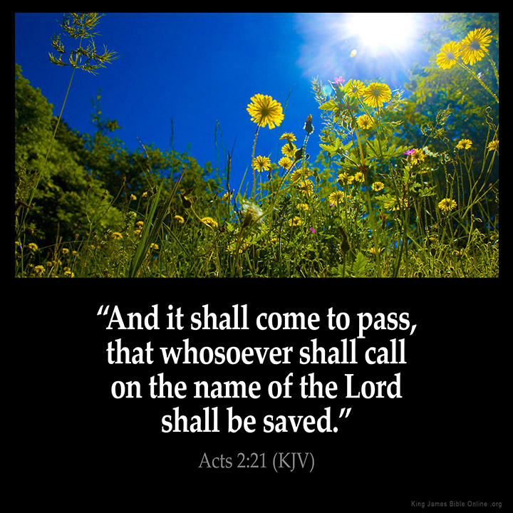 Acts 2:21 Inspirational Image