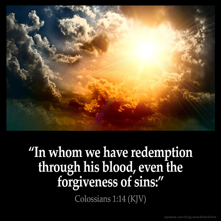 Colossians 1:14 Inspirational Image