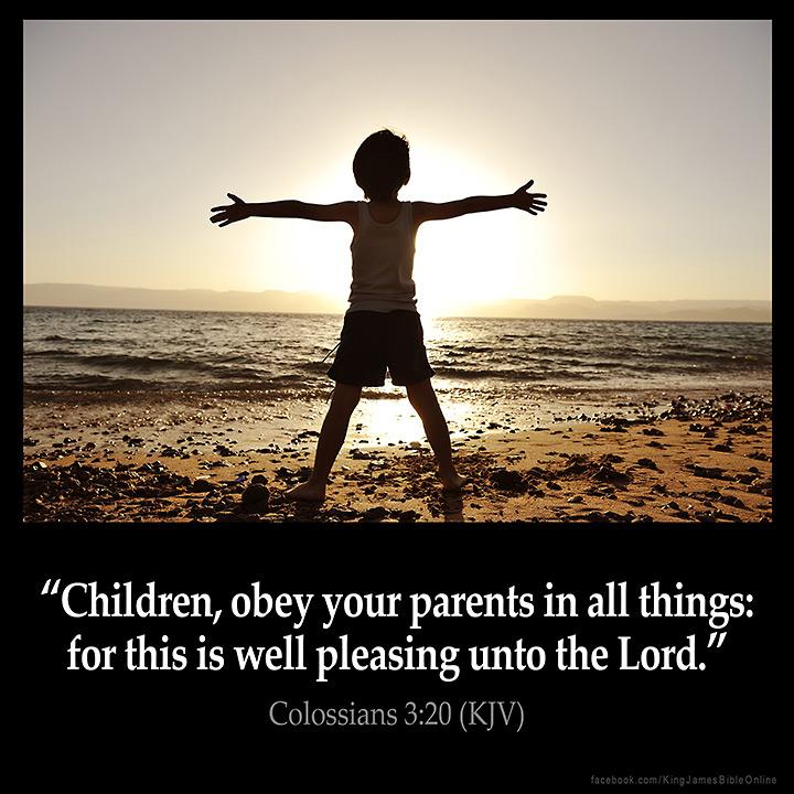 Colossians 3:20