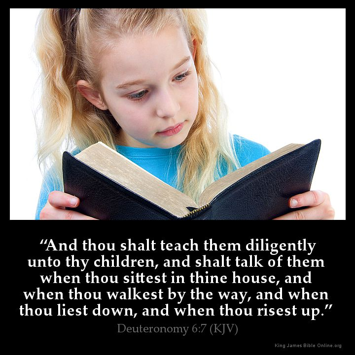 Deuteronomy 6:7 Inspirational Image
