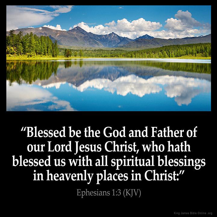 Ephesians 1 3 Inspirational Image