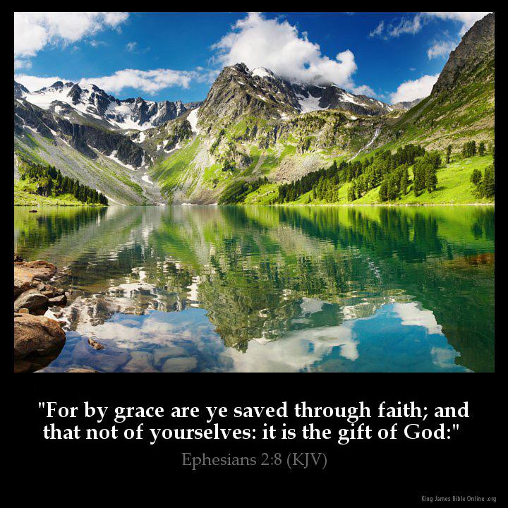 Ephesians 2 8 Inspirational Image