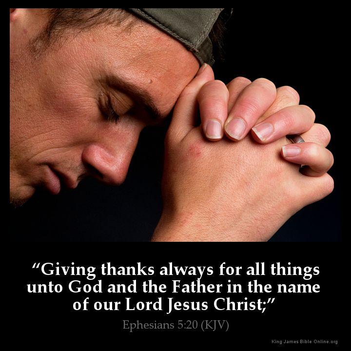 Ephesians 5:20 Inspirational Image