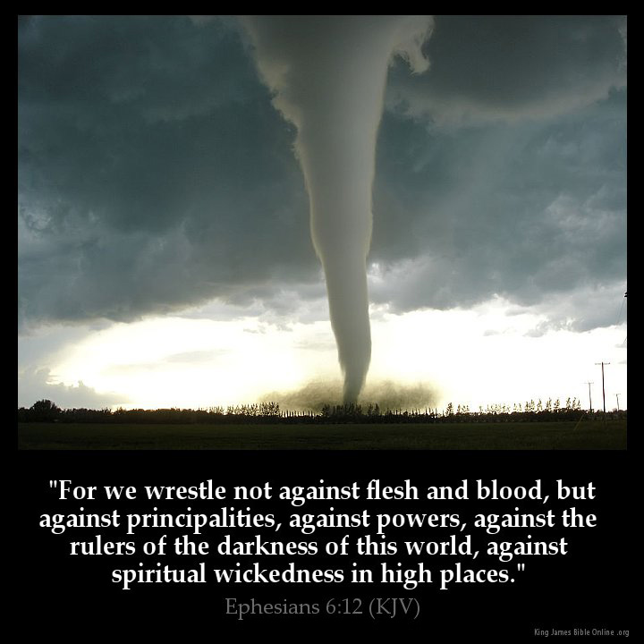 Ephesians 6:12 Inspirational Image