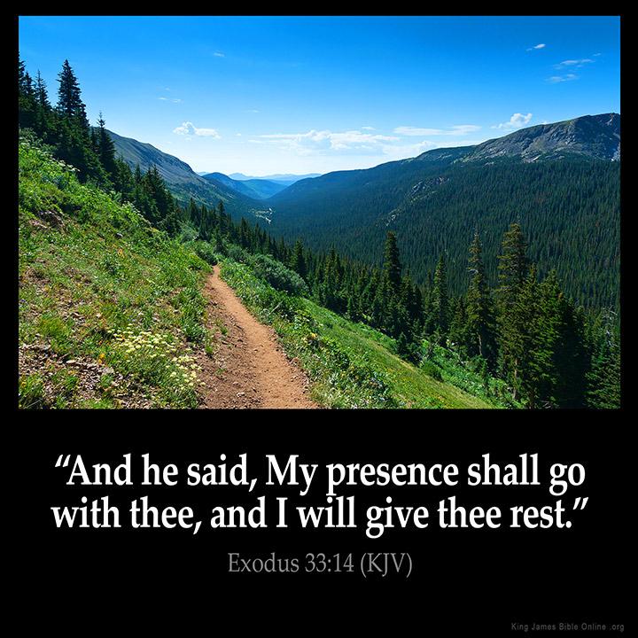 exodus 33 14 inspirational image