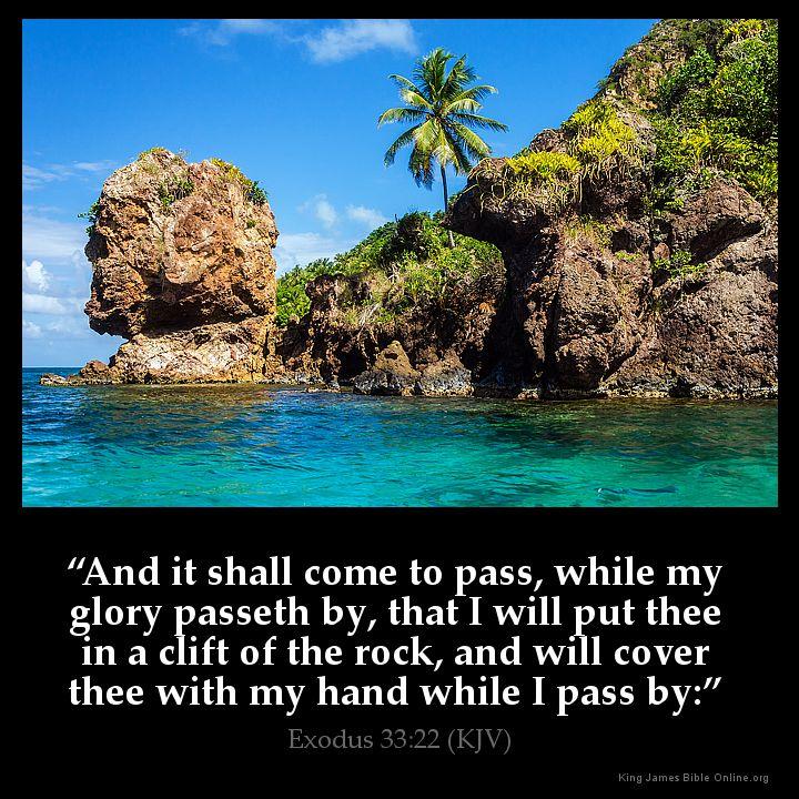 Exodus 33:22 Inspirational Image