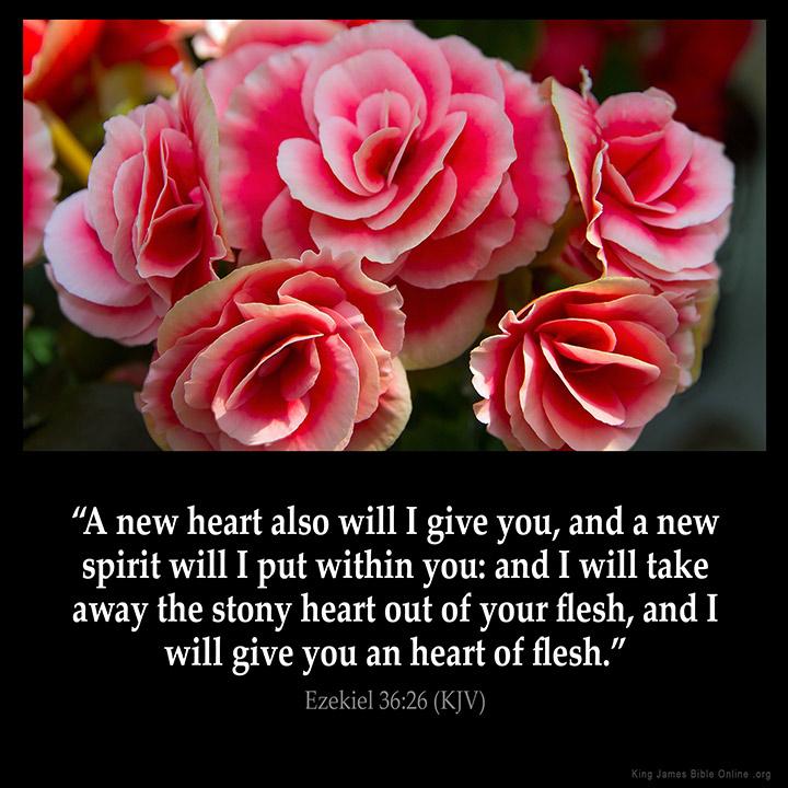Ezekiel 36 26 Inspirational ImageUplifting Bible Verses Kjv