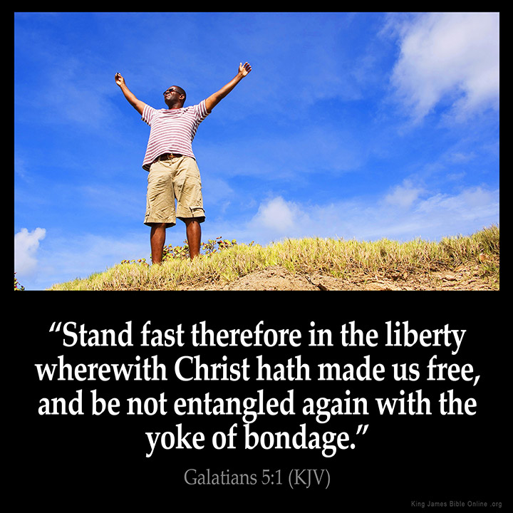 Galatians 5:1 Inspirational Image
