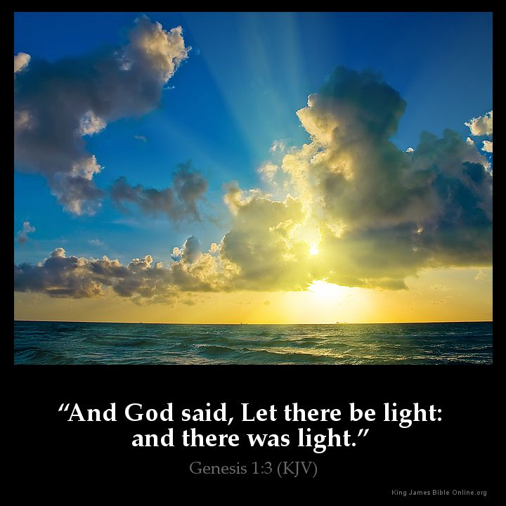 genesis 1 3 Bereishit - genesis - chapter 1  1in the beginning of god's creation of the  heavens and the earth  3and god said, let there be light, and there was light.