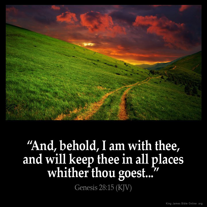 Genesis 28:15 Inspirational Image