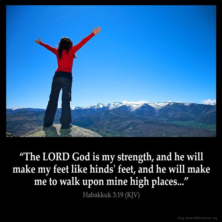 Habakkuk 3:19 Inspirational Image