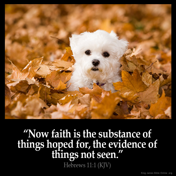 Hebrews 11:1 Inspirational Image