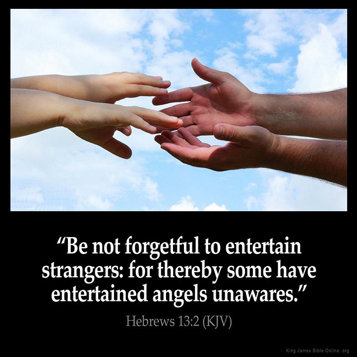 Hebrews 13:2 Inspirational Image
