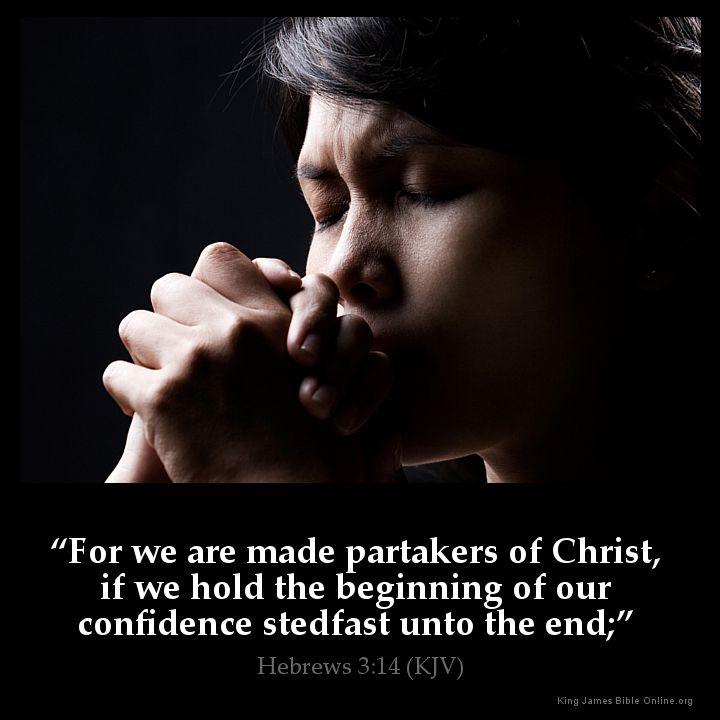 Hebrews 3:14 Inspirational Image