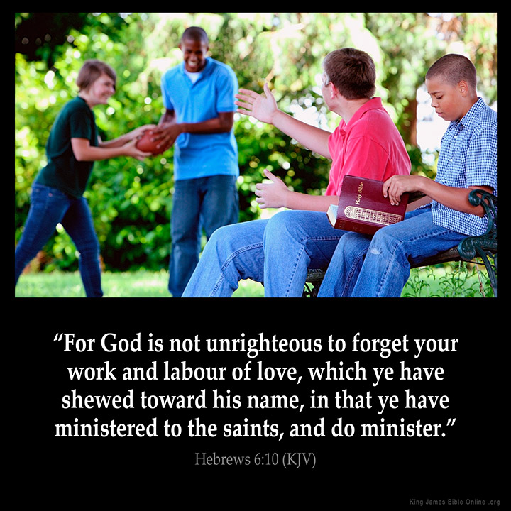 Hebrews 6:10 Inspirational Image