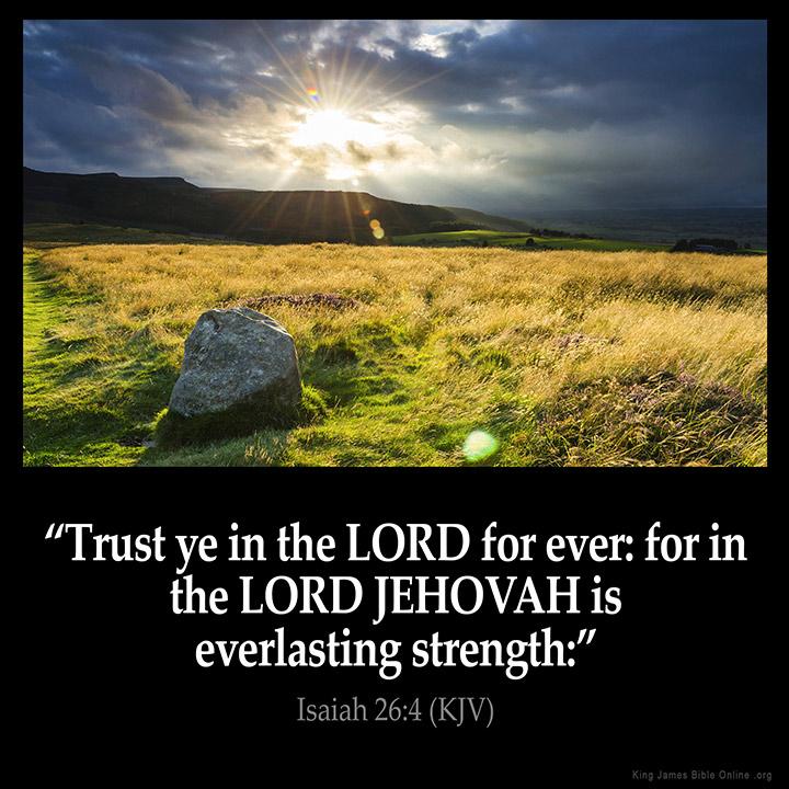 isaiah 26 4 inspirational image