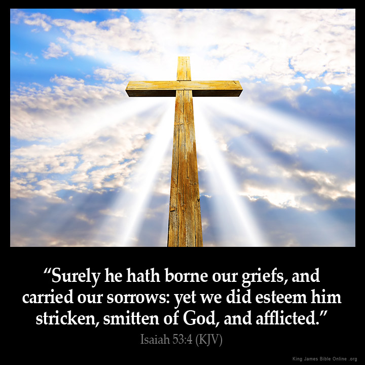 Image result for surely he hath borne our griefs kjv