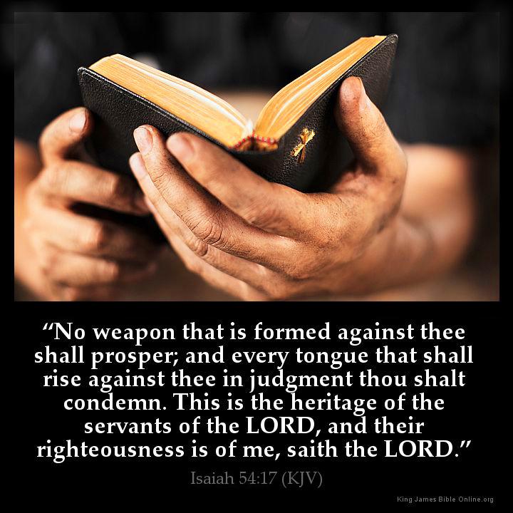 Isaiah 54:17 Inspirational Image