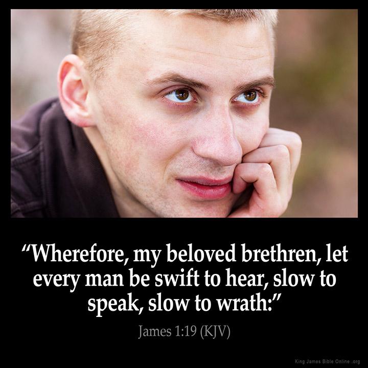 James 1:19 Inspirational Image