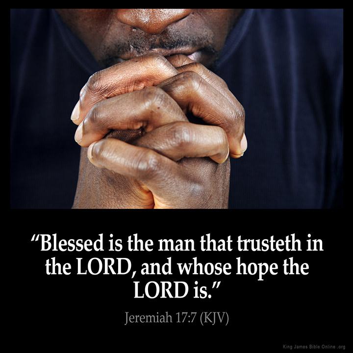 Jeremiah 17:7 Inspirational Image