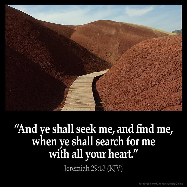 Jeremiah 29:13 Inspirational Image