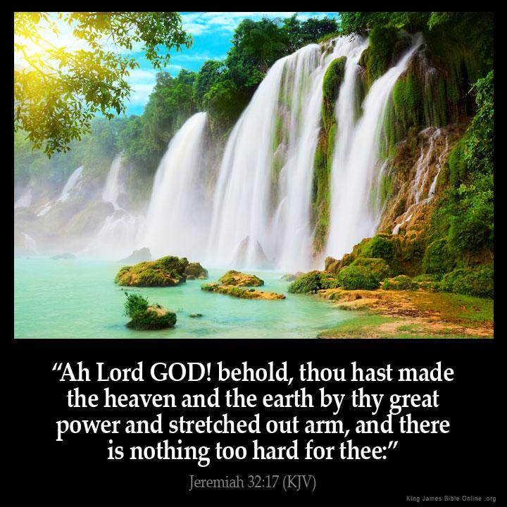 Jeremiah 32:17 Inspirational Image