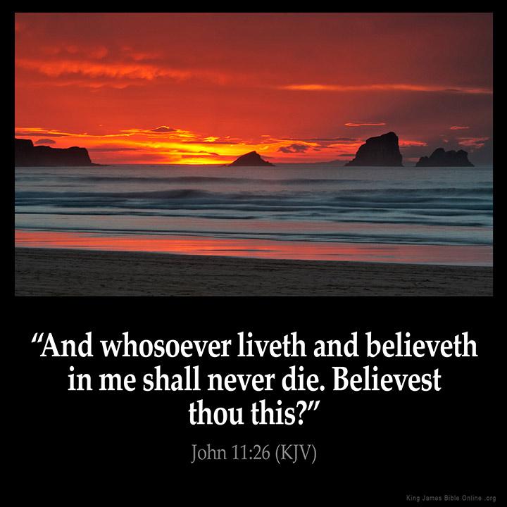 John 11:26 Inspirational Image