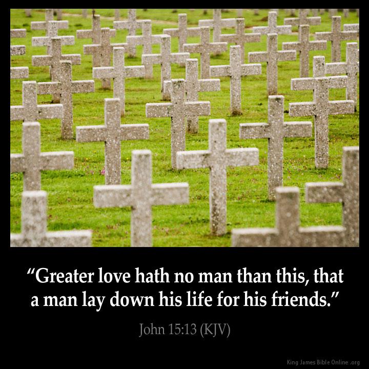 John 15:13 Inspirational Image