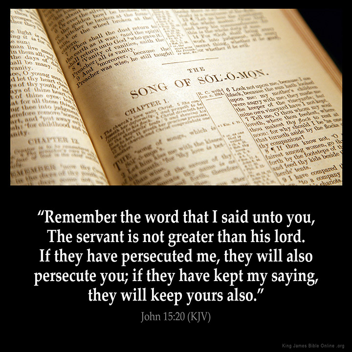 John 15:20 Inspirational Image