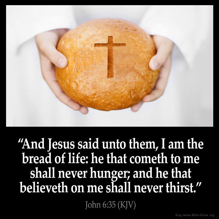 John 6:35 Inspirational Image