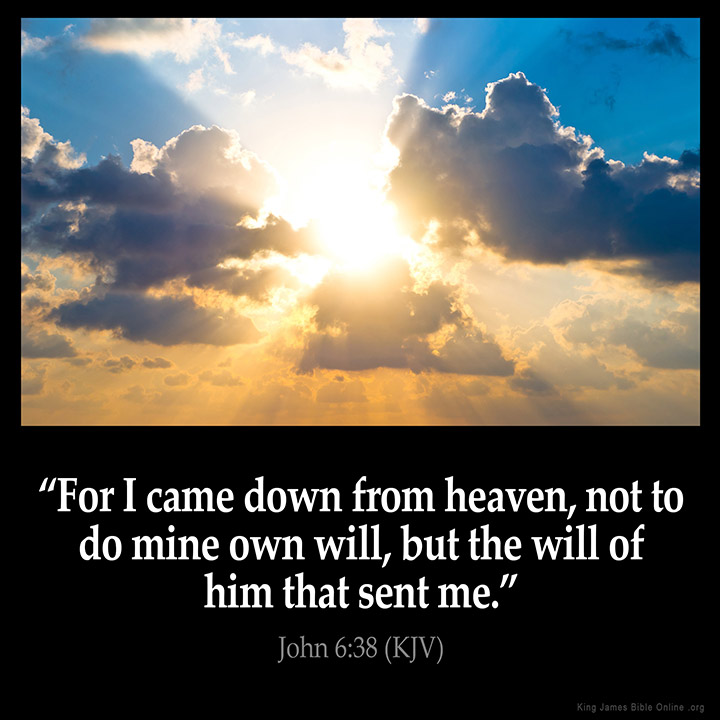 John 6:38 Inspirational Image