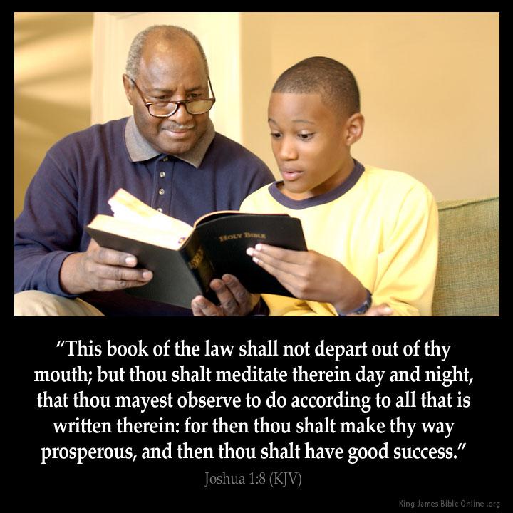 Joshua 1:8 Inspirational Image