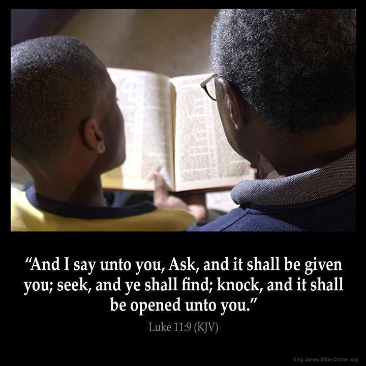 Luke 11:9 Inspirational Image