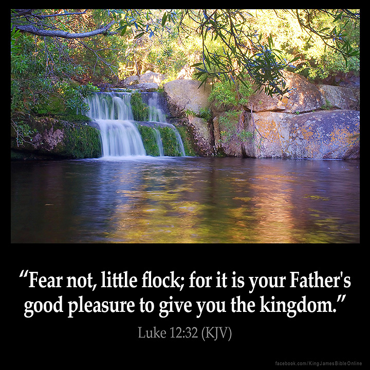 Luke 12:32 Inspirational Image