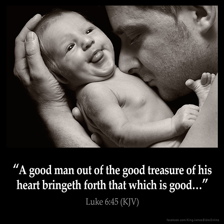 Luke 6:45 Inspirational Image